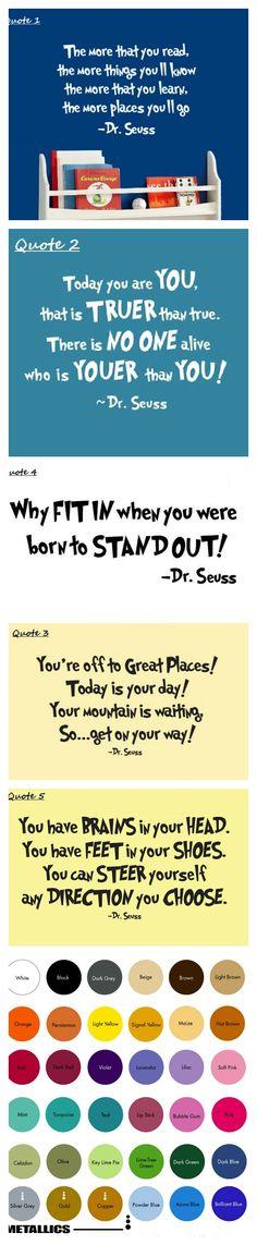 Dr. Seuss Vinyl Quotes  $8.99  #drseussday #quotes #inspirational #sayings #kidsroom #wallart