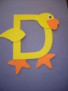 """Letter """"D"""" Duck"""