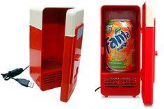 Una mini heladerita especial para enfriar latas. Ya no hace falta ir a la máquina de la oficina o bajar al kiosco cada vez que quieras tomar algo. La conectás con USB a tu compu ¡y listo!. Foto:luuux.com