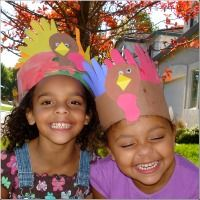 thanksgiving crafts, handprint turkey craft, easy preschool craft ideas