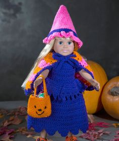 Doll Witch Costume Crochet Pattern | Red Heart
