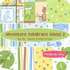 Adventure Celebrate Seuss 2 Fat Quarter Bundle Dr. Seuss Enterprises for Robert Kaufman Fabrics - Fat Quarter Shop