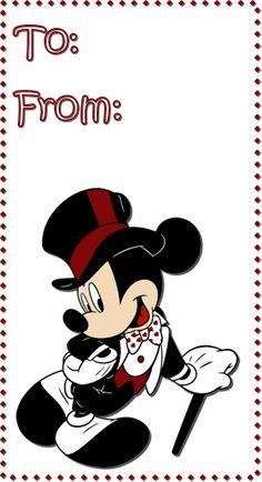 ºoº Printable Disney Mickey Mouse Tag