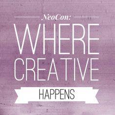@NeoCon 2012 2012: where creative happens #neocon14 #neoconography #design