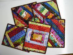 Exuberant Color: mug rugs