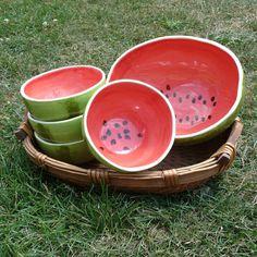 Watermelon Bowls Serving Set di vegetabowls su Etsy, $145.00