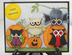 Halloween with the owl punch. Love it!