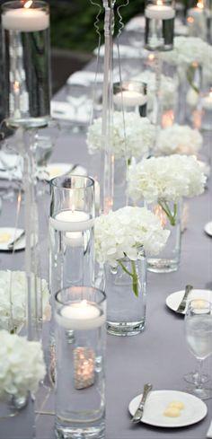 White wedding décor.