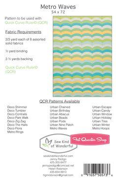 Metro Waves Quilt Downloadable PDF Pattern Sew Kind of Wonderful - Fat Quarter Shop
