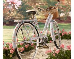So fun! Decoupage this pretty DIY Floral Vintage Bike and Lace Basket with Martha Stewart Crafts!