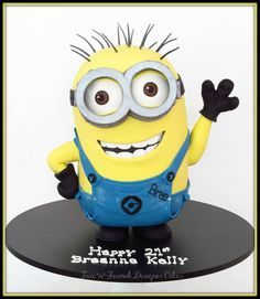 Minion Cake by Fun'n'Formal Cake Designers, Perth, Western Australia. You'll find this Cake Appreciation Society Member in our Directory at www.cakeappreciationsociety.com