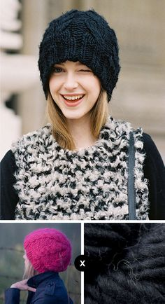 how to knit jemma baines' black cable beanie // knit the look - vanessa jackman photo