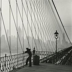Fritz Henle - Sailor on the Brooklyn Bridge, New York City, 1950