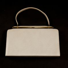 Classic Vintage Cream/OffWhite Colored Faux Crocodile by 75studios, $39.00