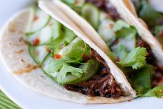 Crockpot Korean Beef tacos
