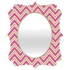 fun and funky chevron mirror