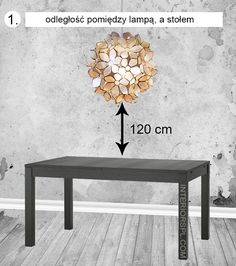 Lamp should be hung about 120 cm above the table, not higher! If you have a chandelier you can hung it even 90 cm above it for a bigger impact :)