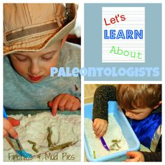 Playing #paleontologist with homemade #moon sand and #dinosaur skeletons is a fun, low-key activity!
