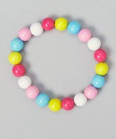 Pink & Blue Bead Bracelet