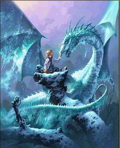 fantasy artwork, dragons, george rr martin dragon ice, frost dragon, fantasi art, cover art, paolo barbieri, ice dragon, friend