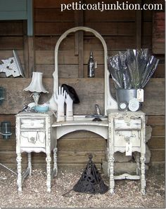 Love this white display at Bella Rustica photo by Petticoat Junktion