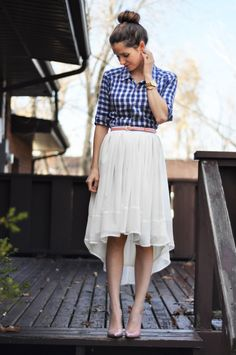 Sheer Gathered High-Low Skirt Tutorial