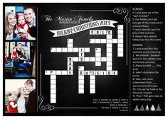 Crossword Puzzle Christmas Card by redapplePRINTS on Etsy