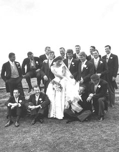 Mrs. John F. Kennedy with the Kennedy clan on her wedding day
