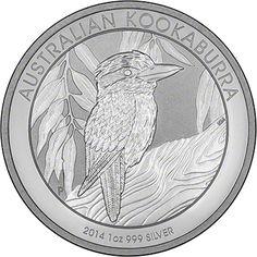 Australian Kookaburra. Available in 1 oz, 10 oz and 1 kilo versions.