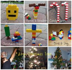 Lego Christmas Ornament Collage