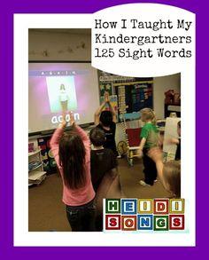Heidi Songs How I Taught My Kindergartners 125 Sight Words Again Song