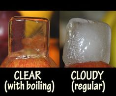 make crystal clear ice!