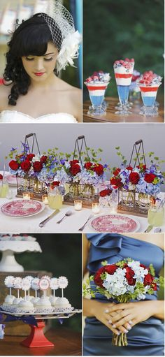 red white and blue themarriedapp.com hearted <3 #4thofjuly #wedding #fourthofjuly #redwhiteandblue #themewedding