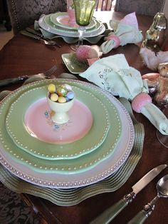Easter Tablescape - Purple Chocolat Home