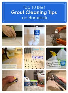 TOP TEN DIY:: BEST CLEANING GROUT TIPS & TUTORIALS