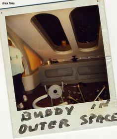 Buddy in space polaroid
