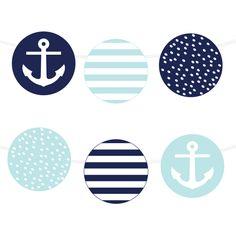 Free Printable Nautical Garland | via @Printable Weddings #wedding #freeprintable