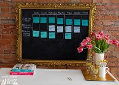 Setting goals is GOLD!  Set everything into perspective and learn how to make this amazing calendar made with chalkboard paint.