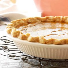 Maple and cinnamon make this pumpkin pie even sweeter! More pumpkin pie ideas: http://www.bhg.com/recipes/desserts/pies/pumpkin-pie-recipes/?socsrc=bhgpin101213maplepumpkinpie&page=21
