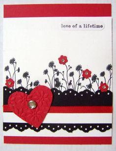Silhouette Sentiments. Very nice Valentine Card.