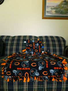 chicago bears baby tie and tag blankets