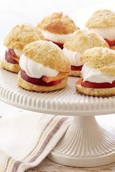 Peach Shortcakes made with Philly Cream Cheese, fresh peaches and Cool Whip. #summer #shortcakes #desserts