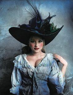Jan Saudek:Lady in Blue (2003)