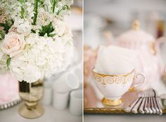 Elegant pink and gold party