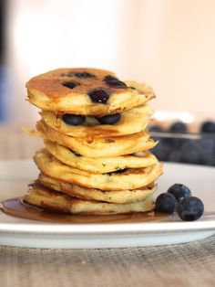 Greek Yogurt Blueberry Pancakes | 29 Healthy Versions Of Your Favorite Comfort Foods #delicious #food #recipes