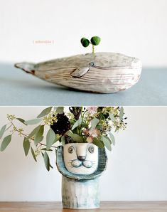 Quirky planters #fun #vase #flowers