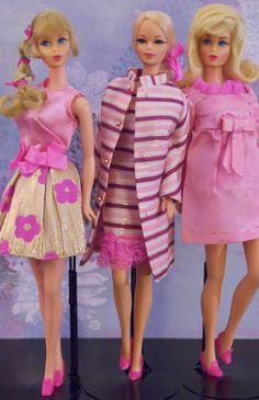 Vintage Barbie - Mod Era Twist n' Turn Barbies and Stacey