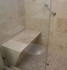 Add a bench to your walk-in shower