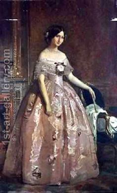Portrait of the Duchess of Alba Federico de Madrazo y Kuntz | Oil Painting Reproduction | 1st-Art-Gallery.com