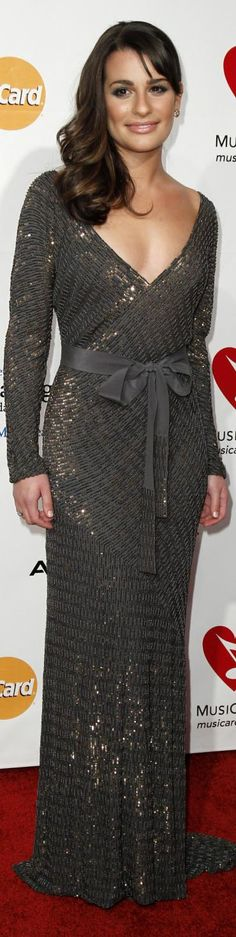 Lea Michele party dress
